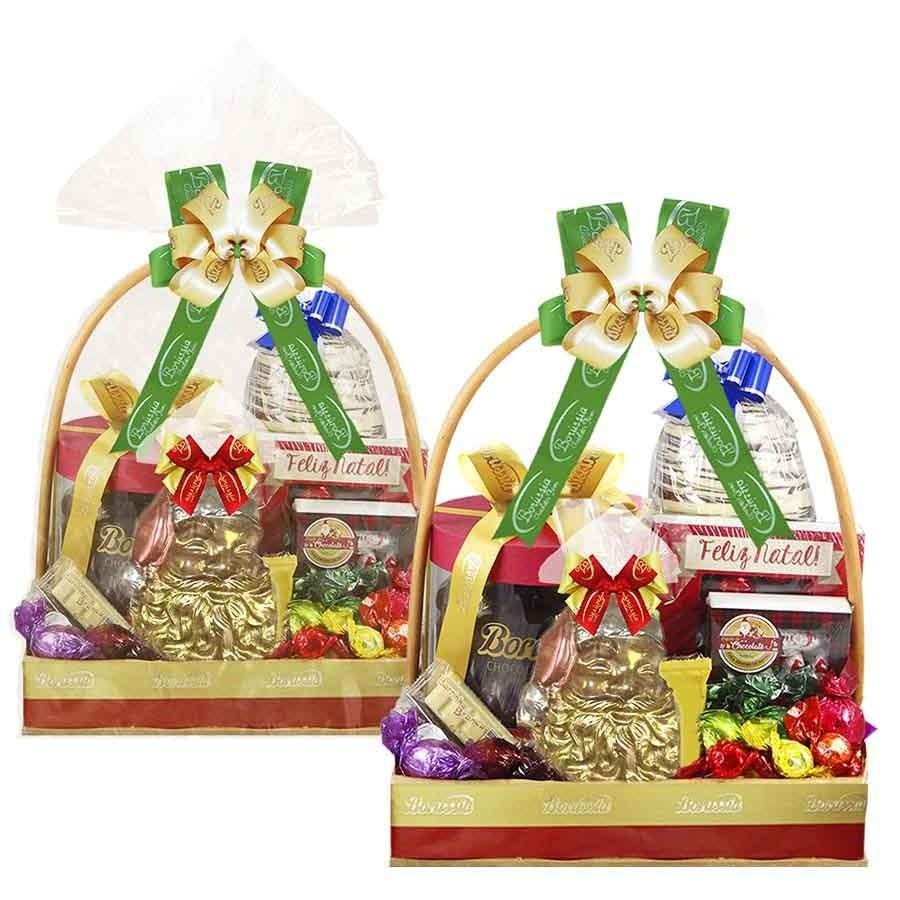 Super Cesta de Natal com Chocolates Variados Borússia Chocolates