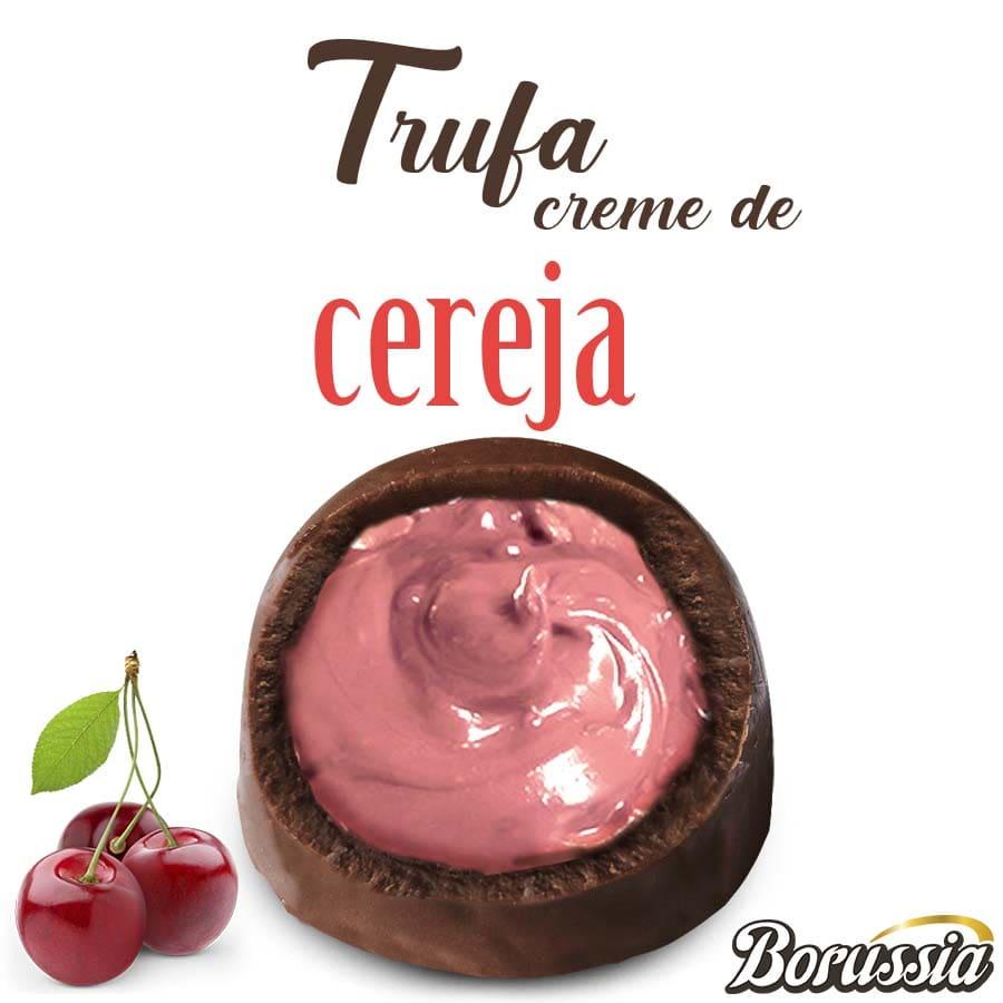 Trufa de Chocolate com Recheio de Cereja Borússia Chocolates