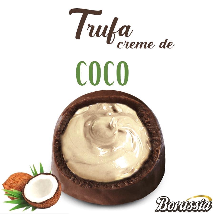 Trufa de Chocolate com Recheio de Coco Borússia Chocolates