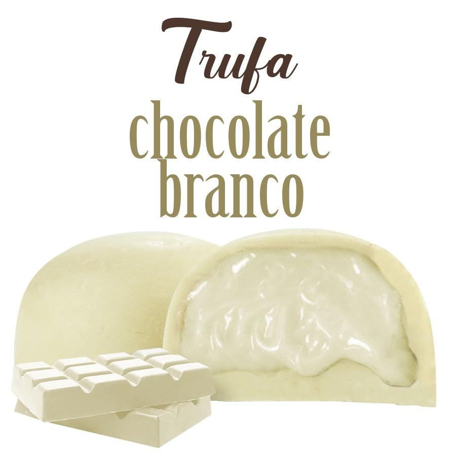 Trufa de Chocolate com Recheio de Creme Branco Borússia Chocolates