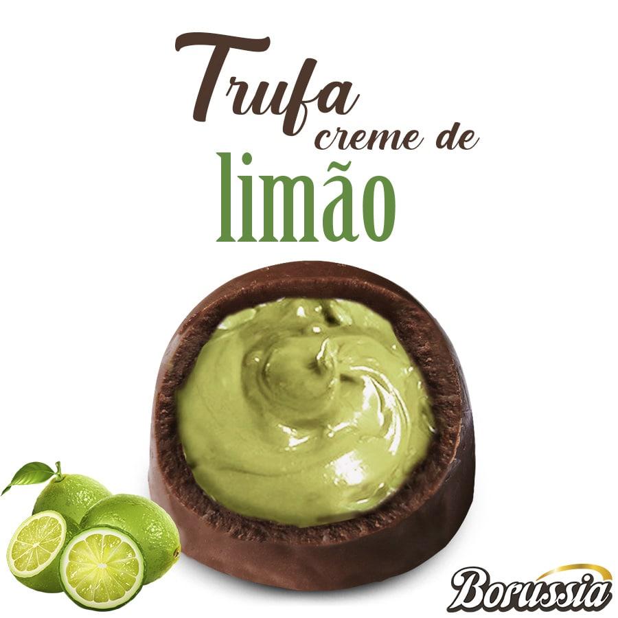 Trufa de Chocolate com Recheio de Limão Borússia Chocolates