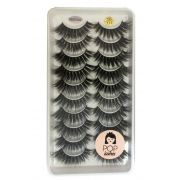 Cartela com 10 pares de cílios 3D-115 | Pop Lashes