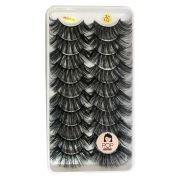 Cartela com 10 pares de cílios 3D-126 | Pop Lashes