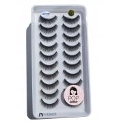 Cartela com 10 pares de cílios 3D-129 | Pop Lashes