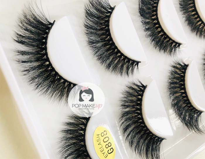 Caixa de cílios com 5 pares G808 | Pop Lashes