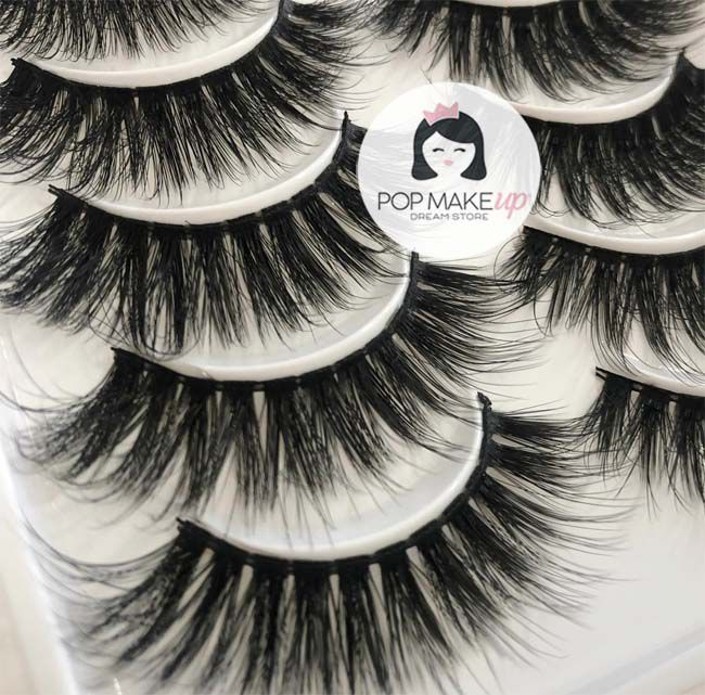 Cartela com 10 pares de cílios 3D-105 | Pop Lashes