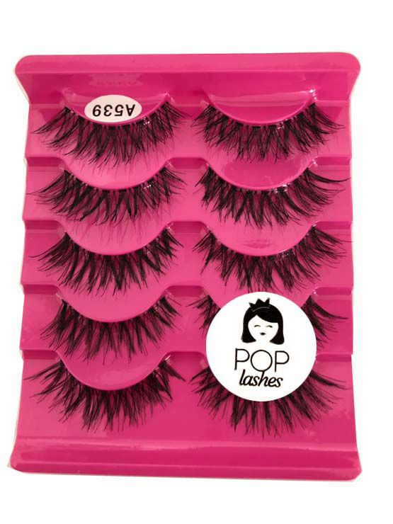 Cartela de Cílios com 5 pares A539 | Pop Lashes