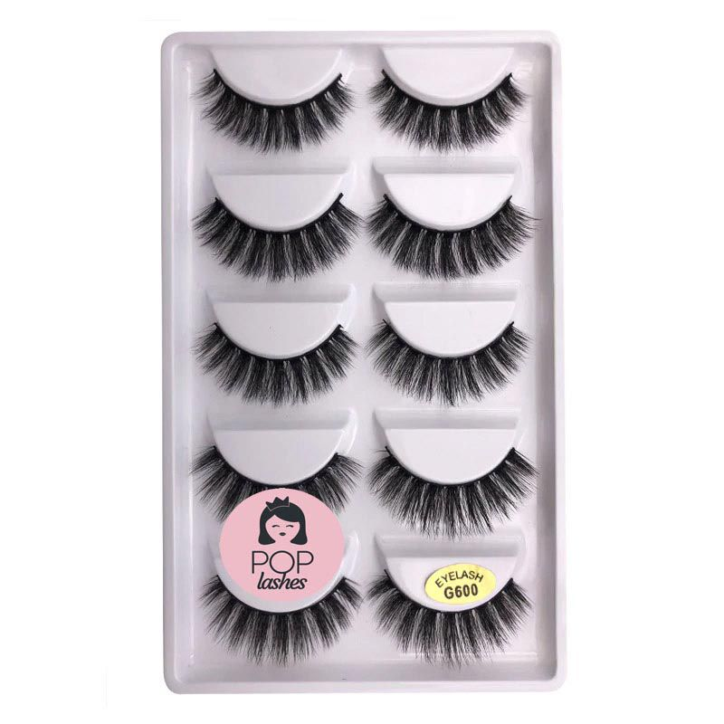 Cartela de Cílios com 5 pares G600 | Pop Lashes