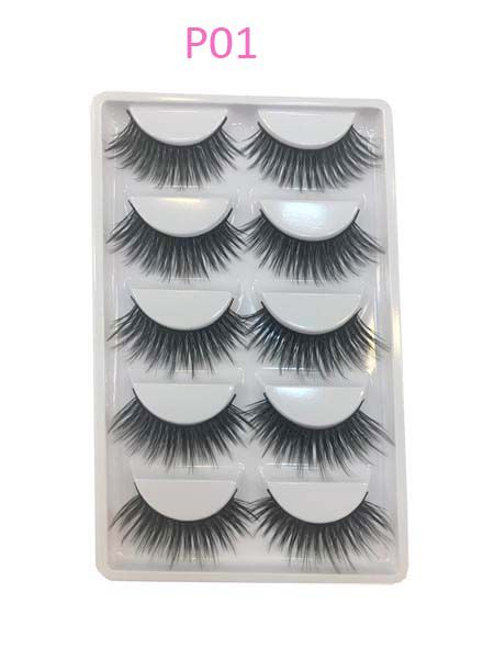 Cartela de cílios com 5 pares  P01| Pop Lashes
