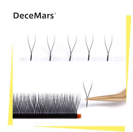 Cílios para extensão modelo Y 0.07 Curvatura D caixa Mix ATÉ 15 cm | DeceMars