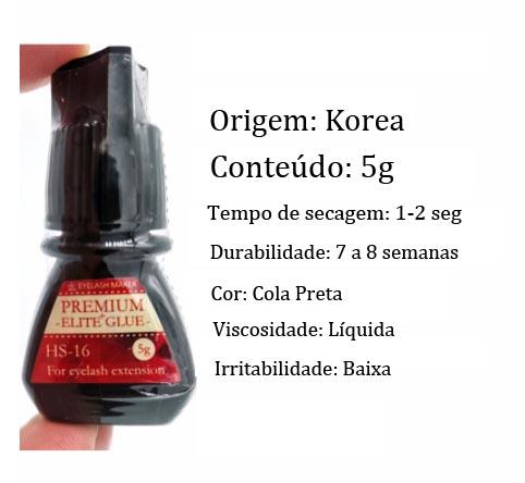 Cola Extensão de Cílios Elite Premium HS-16 5gr