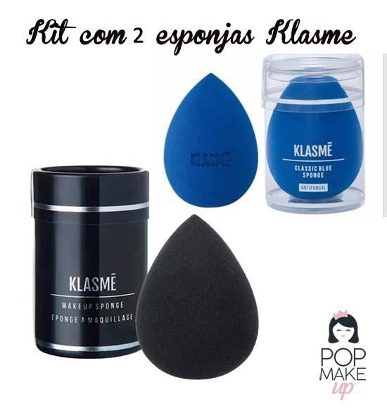 Duas esponjas Black + Classic Blue | Klasme