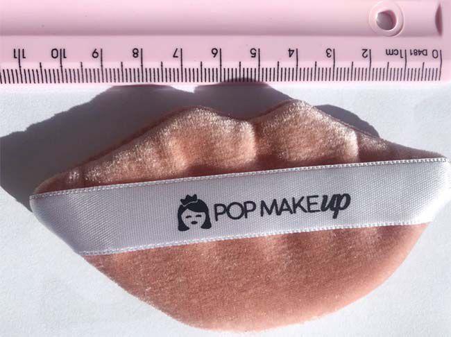 Esponja com tira de cetim - formato BOQUINHA | Pop Make up