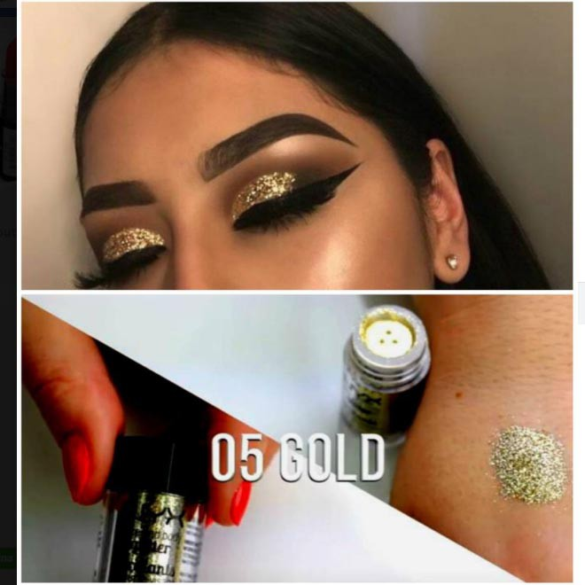 Face and Body Glitter  NYX | GOLD