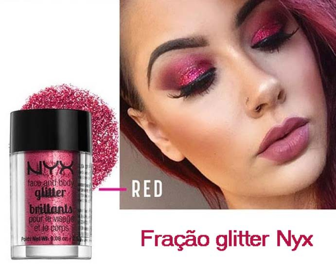 Face and Body Glitter NYX| RED
