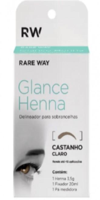 Henna para Sobrancelhas CASTANHO CLARO | Glance