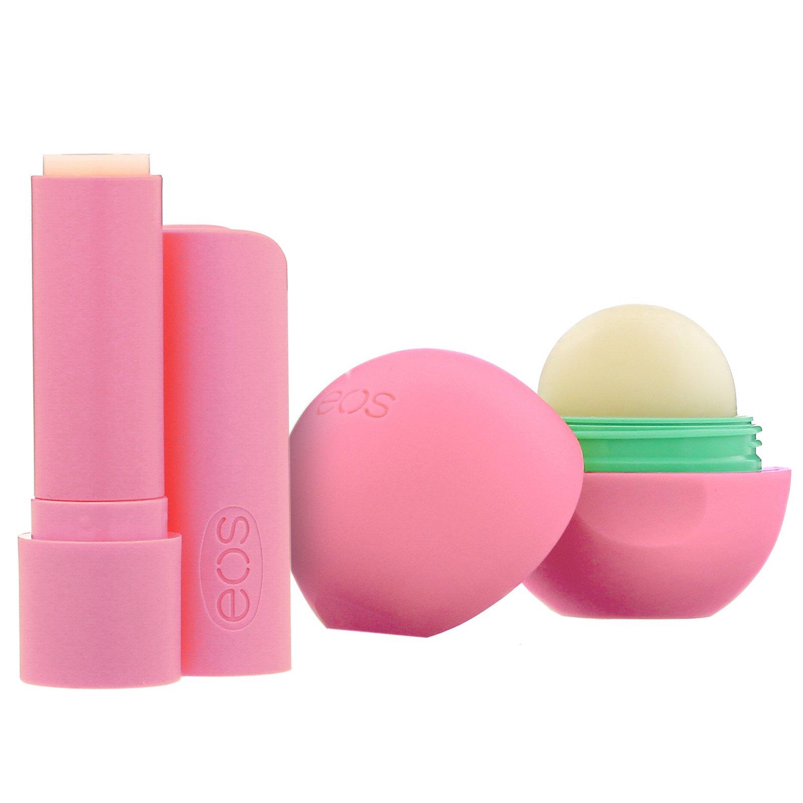 Kit com 2 lip balm Strawberry Sorbet | EOS