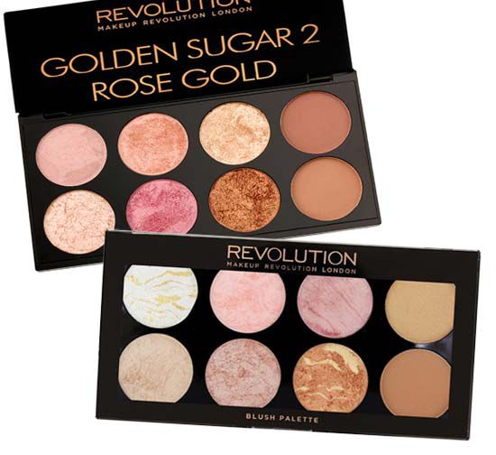 Paletas Blush/Bronzer/Iluminador Golden Sugar Make up Revolution