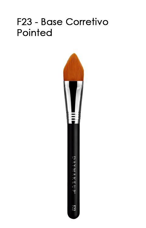 Pincel para Base e Corretivo Pointed F23 | Daymakeup