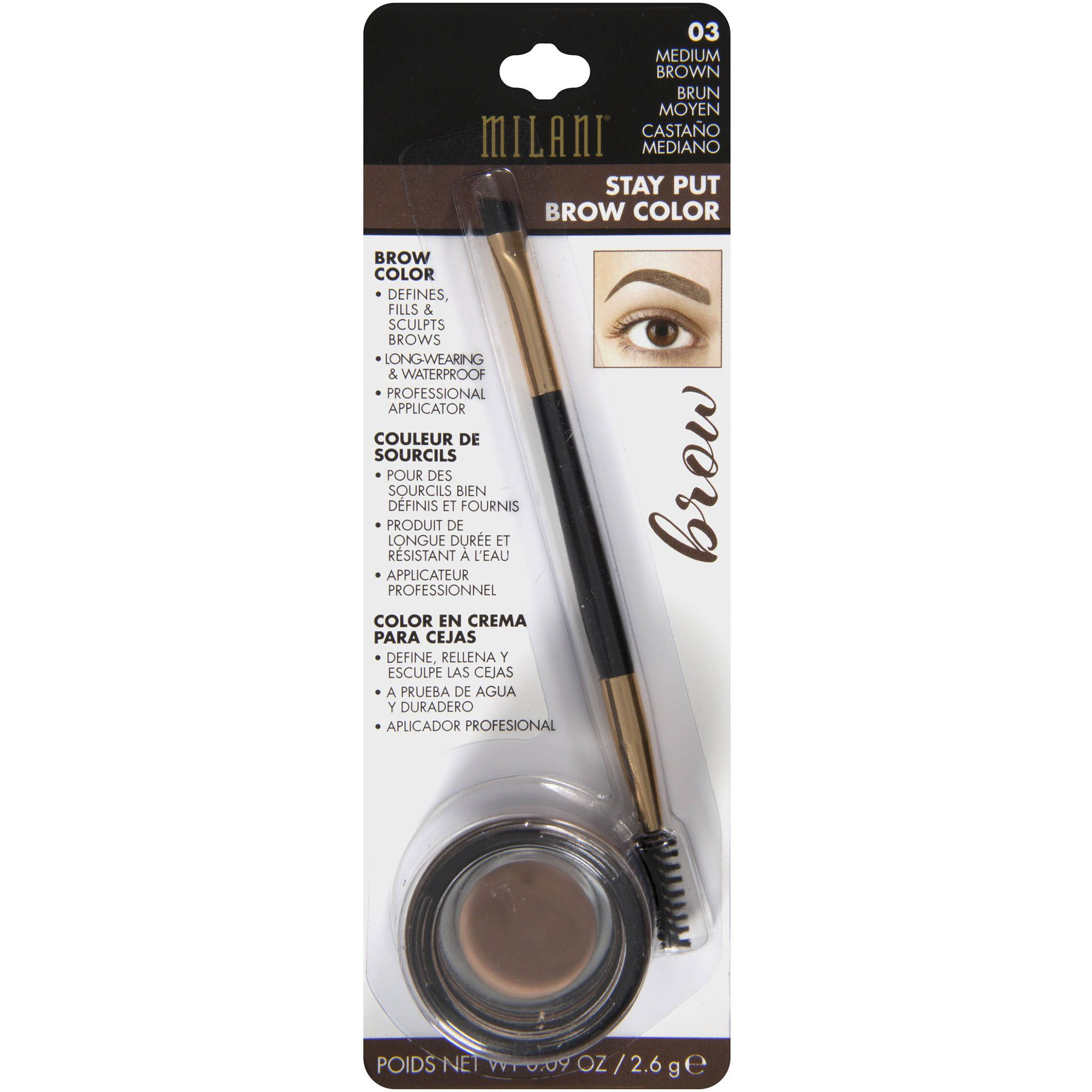 Pomada de Sobrancelha Stay Put Brow Color | Milani