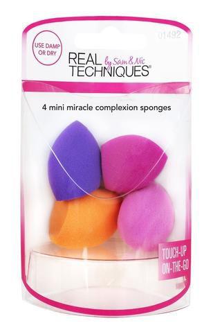 Real Techniques com 4 mini miracle sponges