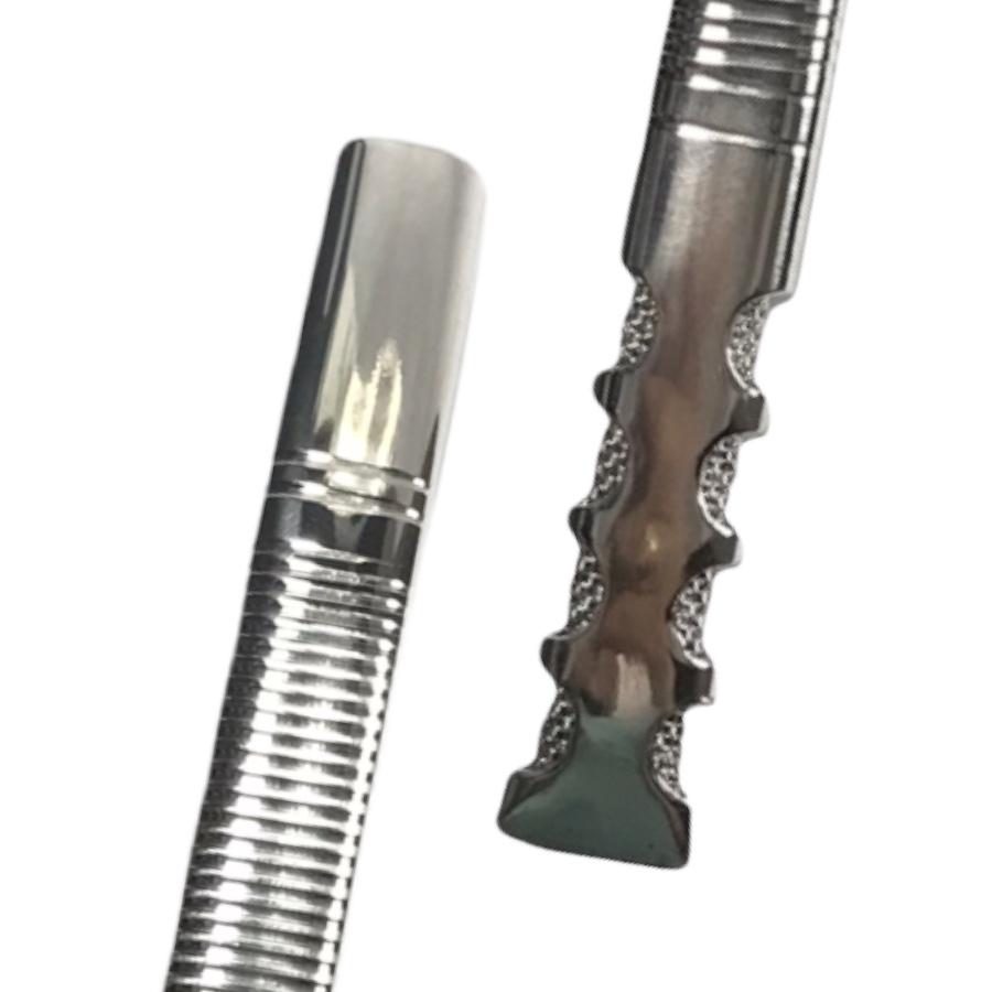 Bomba Inox de Tereré - Tela interna 8 Furos - Recartilhada - 18cm