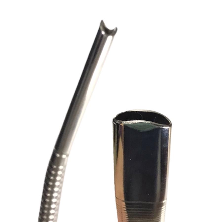 Bomba Inox de Tereré - Tela interna - Corte Z - Recartilhada - 18cm