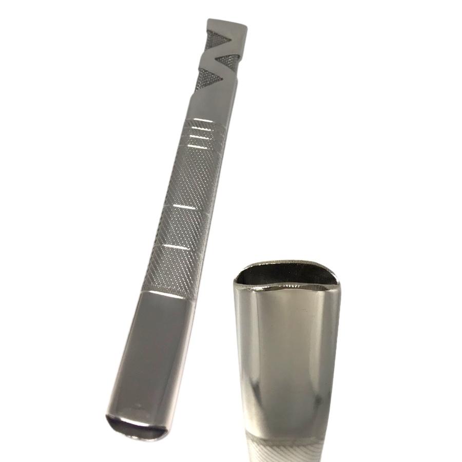 Bomba Inox de Tereré - Tela interna - Recartilhada - 18cm