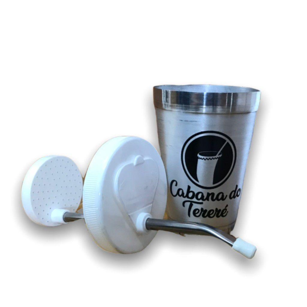 Copo Alumínio Com Bomba Inox/Plastico