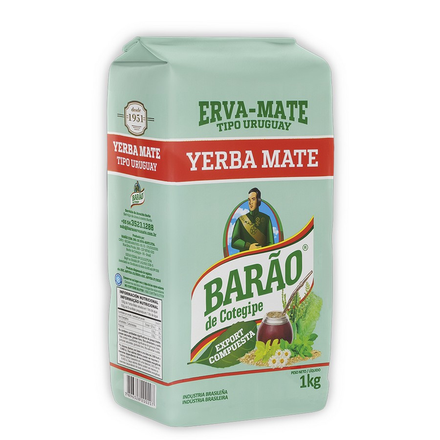 Erva-Mate Barao Export Compuesta 1 Kg