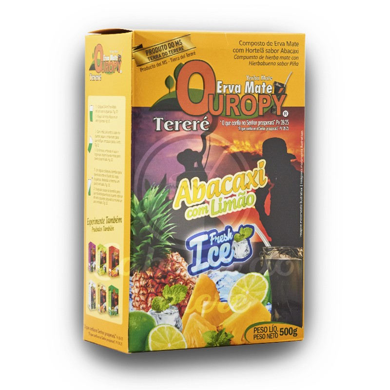 Erva Mate Ouropy - Abacaxi C/Limao Fresh Ice 500G