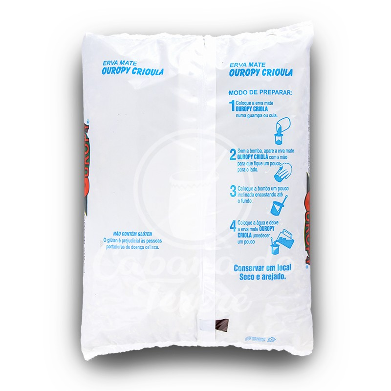 Erva Mate Ouropy - Brutus Ice Breakers Mint 500G