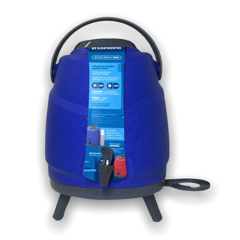 Garrafa Termica Botijao Estacionario Aspen 9L Azul