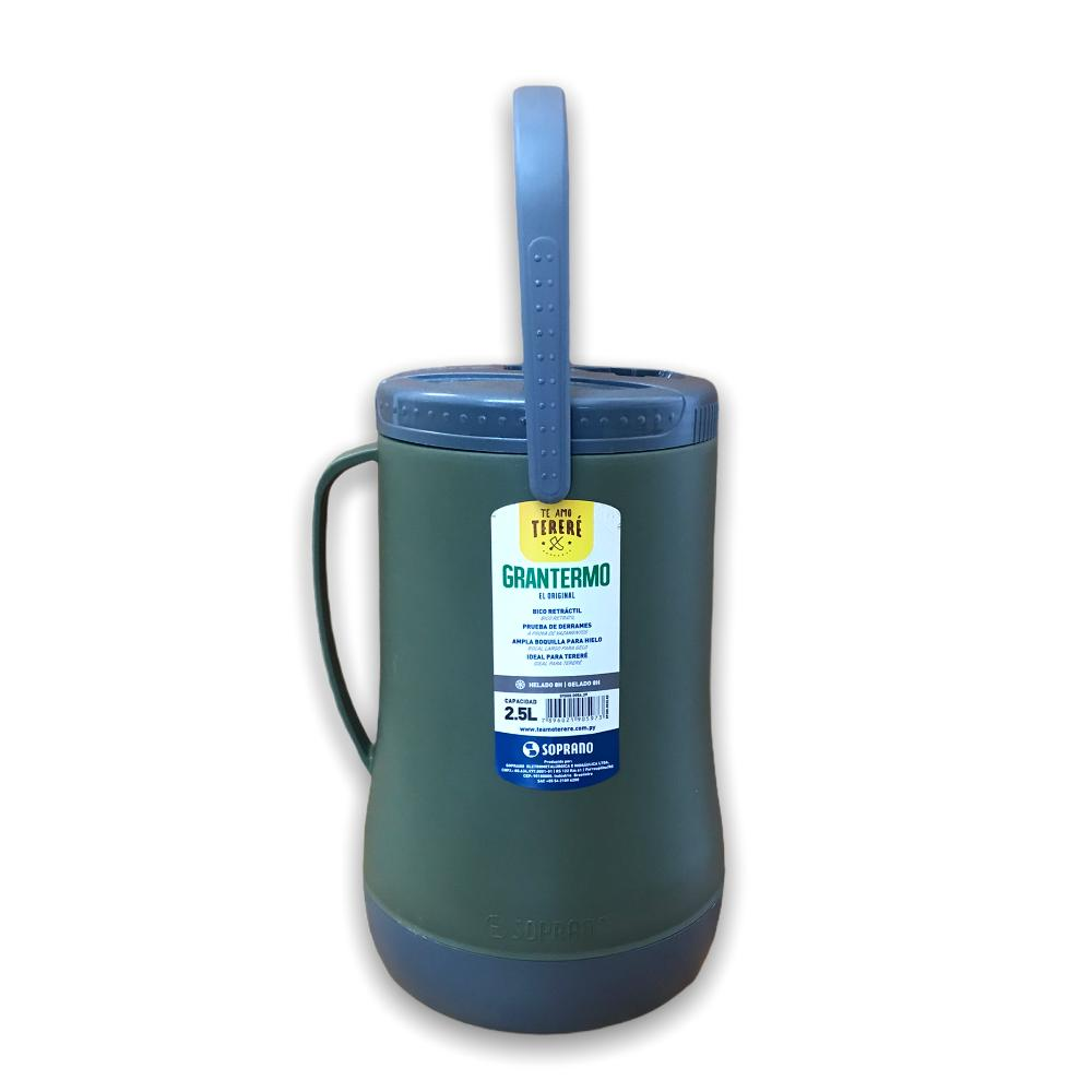 Garrafa Termica Recipiente Isotermico Grantermo 2,5L Verde Militar