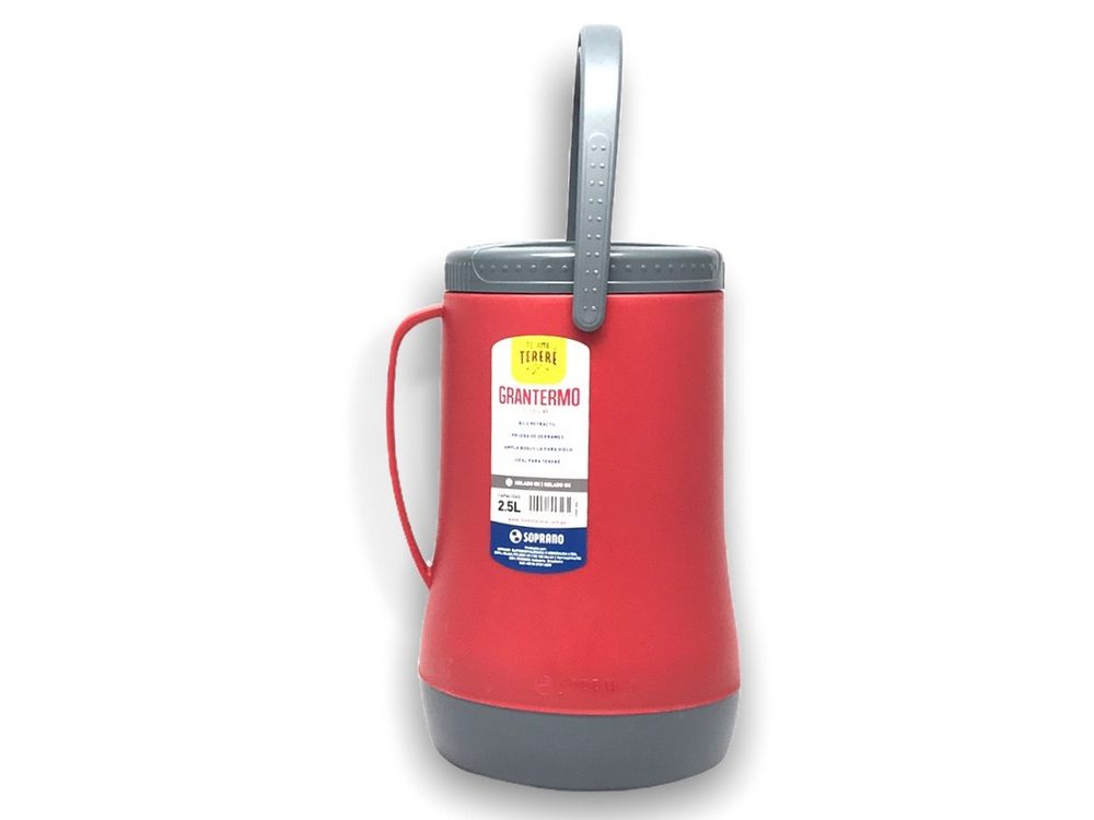 Garrafa Termica Recipiente Isotermico Grantermo 2,5L Vermelha