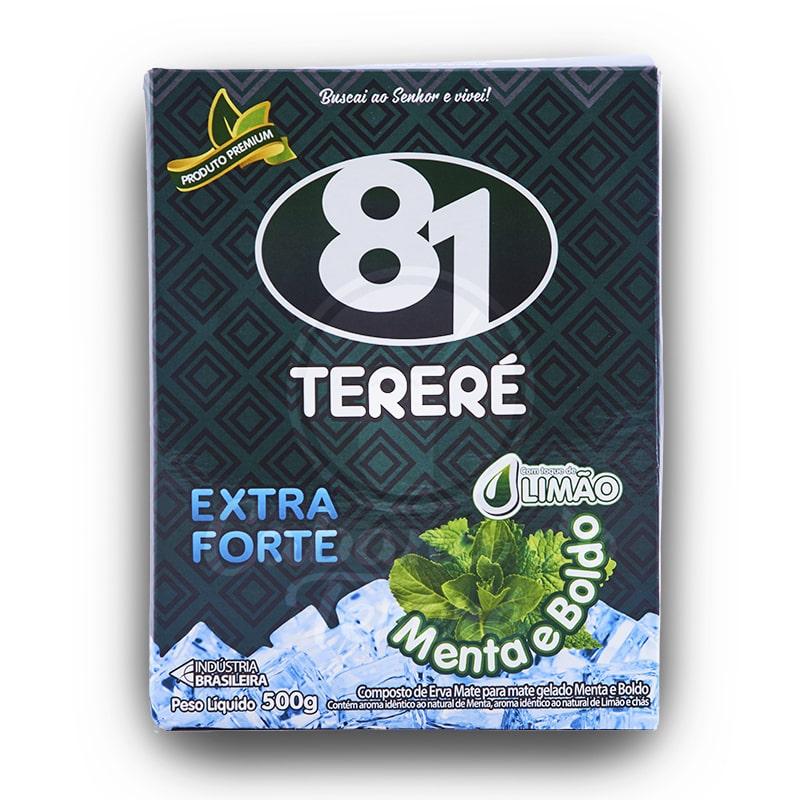 Terere 81 - Extra Forte Menta e Boldo c Limão 500G