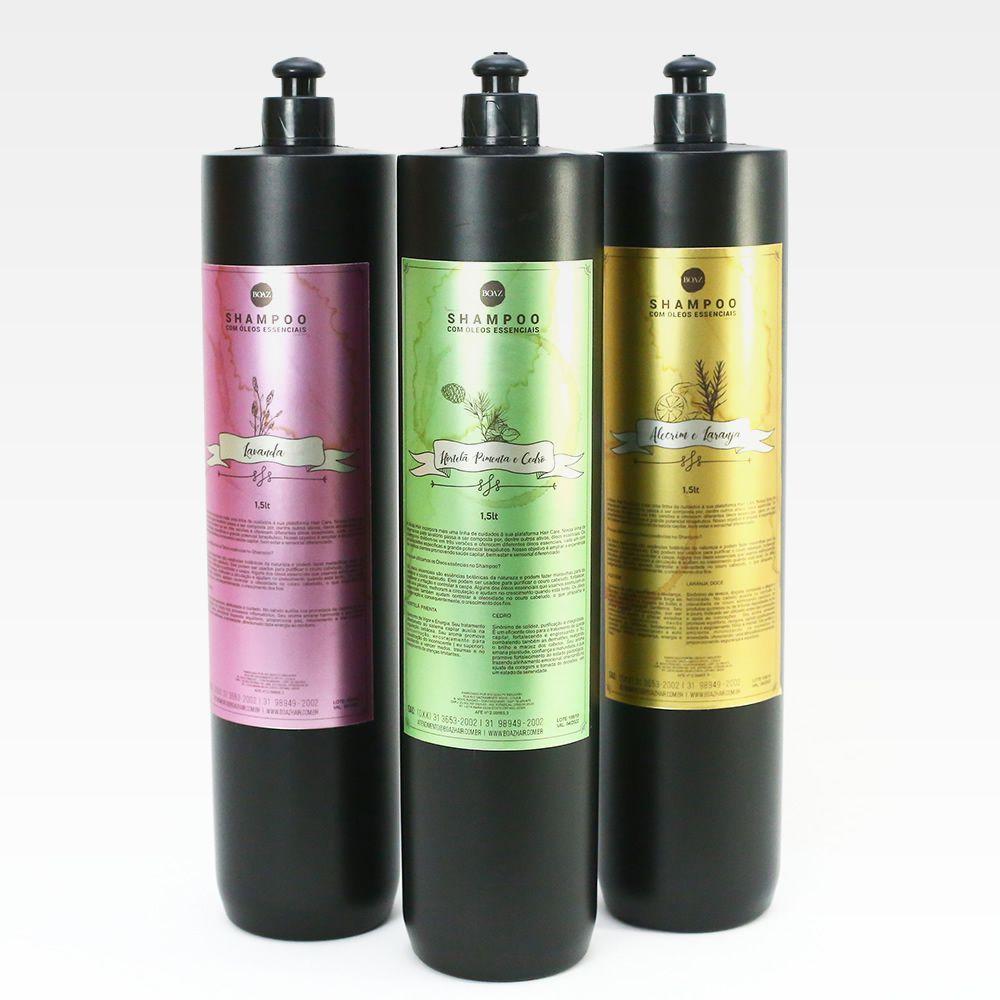 Óleos Essenciais - Shampoos para lavatório - Kit Completo - Boaz Hair