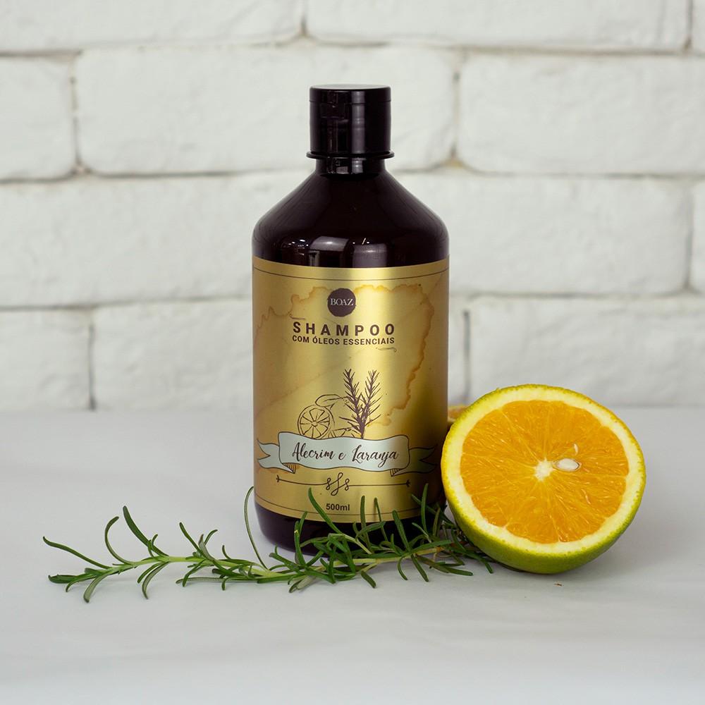 Óleos Essenciais - Shampoo de Alecrim & Laranja - Boaz Hair - 500ml