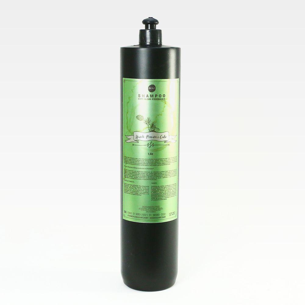 Óleos Essenciais - Shampoo de Hortelã Pimenta e Cedro - Boaz Hair