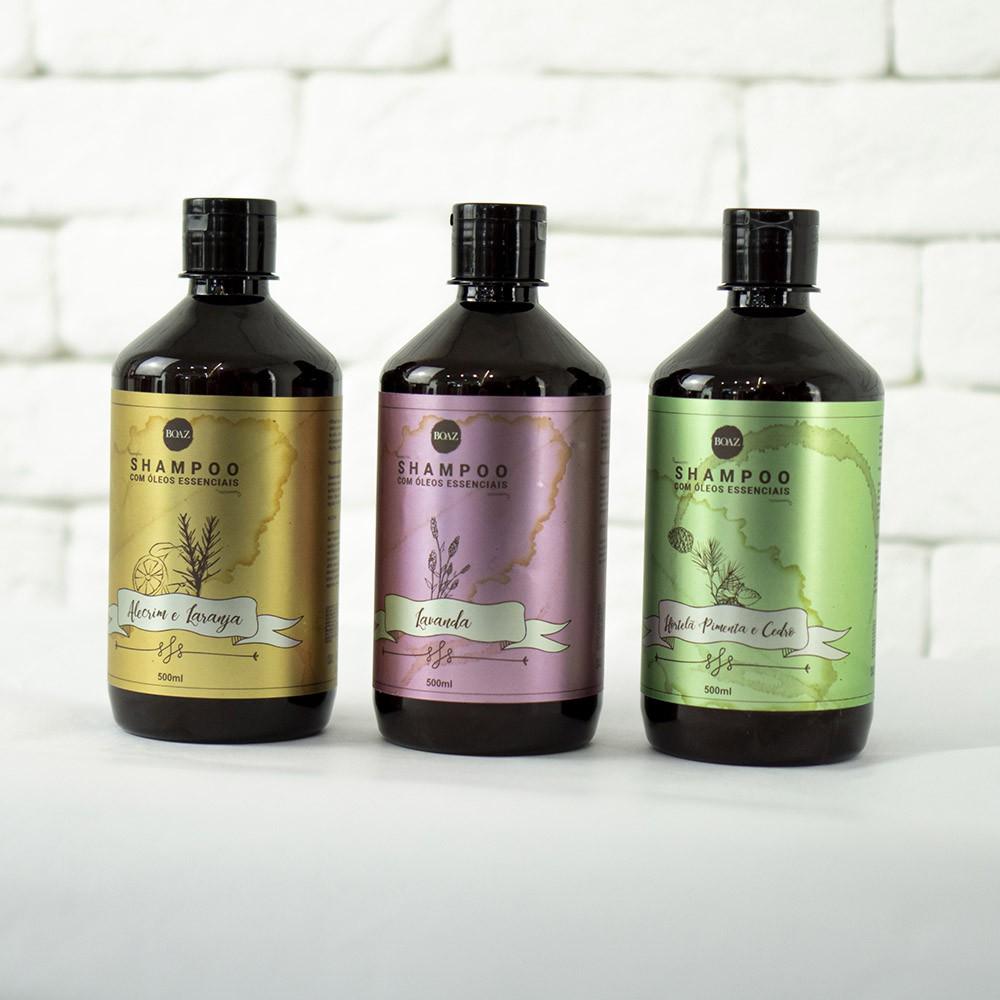 Shampoos de Óleos Essenciais - Kit Completo - Boaz Hair