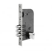 Conjunto Fechadura Rolete Aço Inox  - Cilindro 70mm -  Fortezza