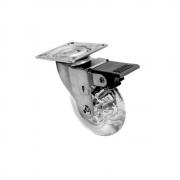 Rodízio Gel Diâmetro 50 mm com Freio 40 Kg