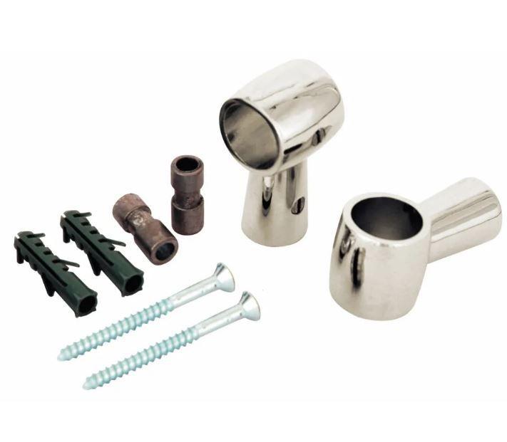 Barra Tubular Suspensa para Acessórios de Cozinha Acabamento Inox Jomer