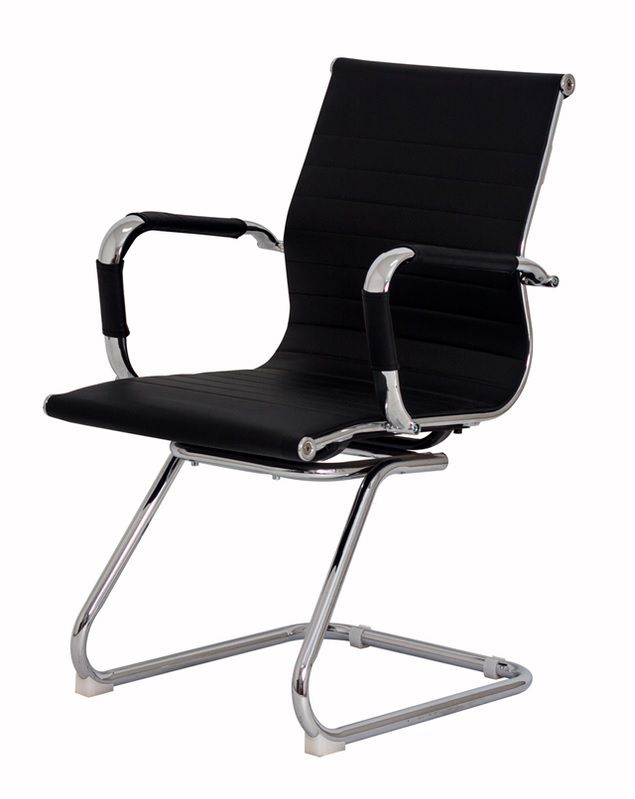 Cadeira de Escritório Esteirinha Fixa Preta