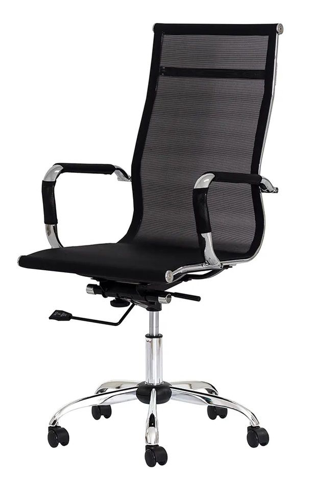 Cadeira Escritório Mesh Presidente Preta