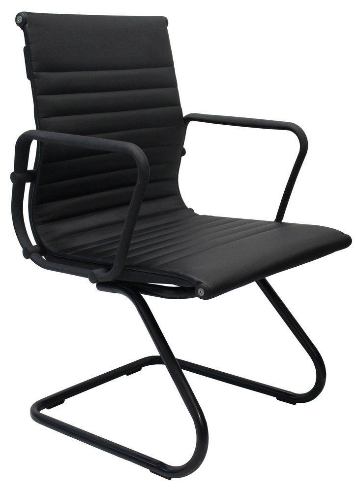 Cadeira Esteirinha Base Fixa Preta