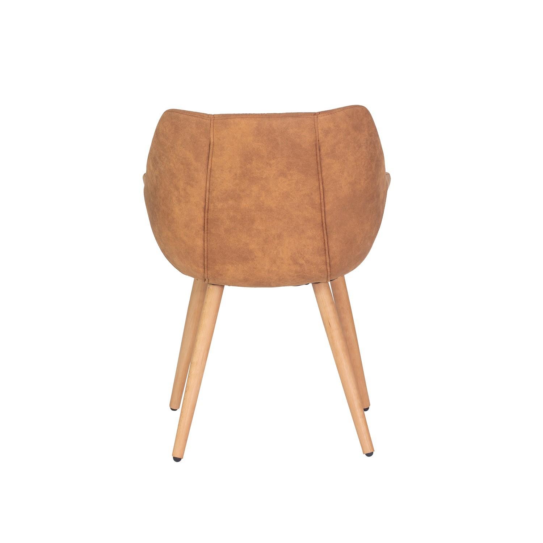 Cadeira Estofada Caramelo