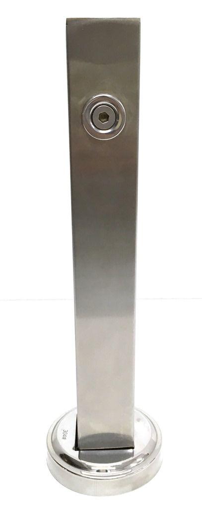 Coluna Torre Vertical Para Vidros Aço Inox (guarda-corpo)