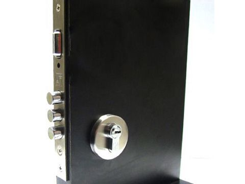 Conjunto Fechadura Rolete Aço Inox  - Cilindro 90mm -  Fortezza