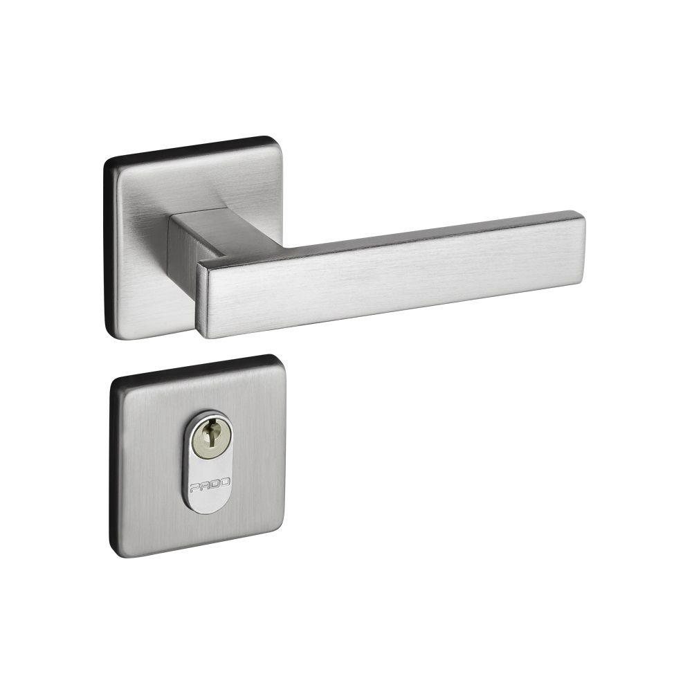 Fechadura 408 Pado Residence 40mm    |   Banheiro, Interna, Externa    |    Cromada, Escovada, ZBT
